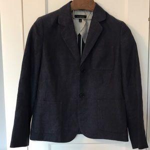 Talbots Navy 100% Linen Blazer